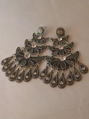 Ohrringe Modeschuck Silber Antik Hinkucker NEU