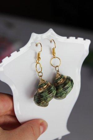 Bungeloorbellen goud-groen-grijs