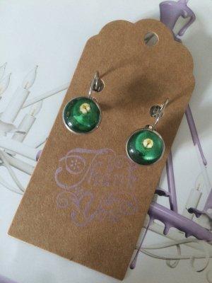 Ohrringe neu grün Gold Vintage Schmuck Geschenk