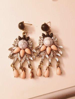 Earring black-rose-gold-coloured