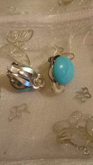 Pendientes de clip azul claro