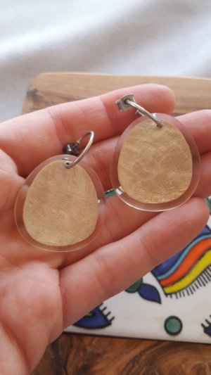 Ohrringe Ohrhänger Gold Perlmutt Schildpatt