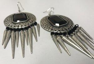 Dangle black-silver-colored