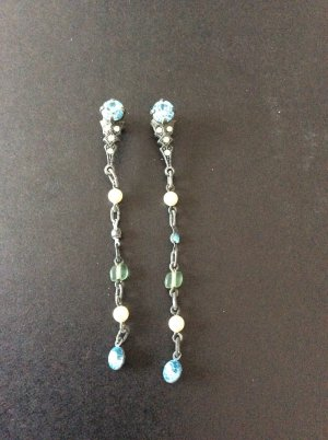 Ohrringe Ohrhänger Konplott blau weiß