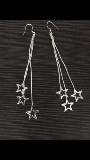 Ohrringe Ohrhänger mit Sternen 925 gestempelt