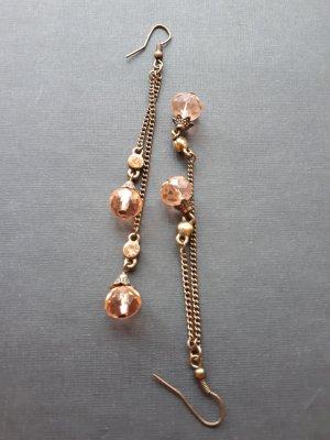 Ohrringe Ohrhänger Modeschmuck mit Perlen und glänzenden Steinchen