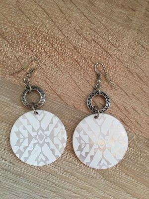 Ohrringe Ohrhänger Modeschmuck weiß silber boho Festival