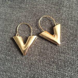 Ohrringe Ohrhänger V goldfarben Modeschmuck