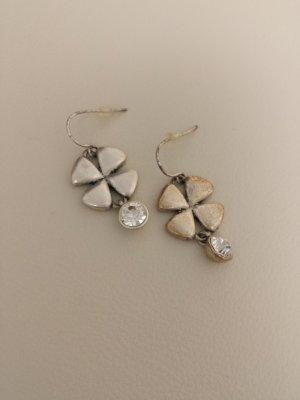 Ohrringe, Ohrhänger von Pilgrim, silber mit Glitzerstein