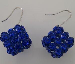 Pendientes colgante azul