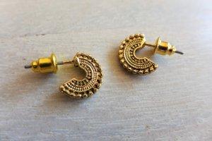 Ohrringe Ohrstecker gold orientalisch indisch Indien Creole neu