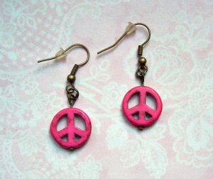Ohrringe Peace Pink Howlith