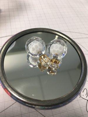 Ohrringe Perlen weiß gold durchsichtig
