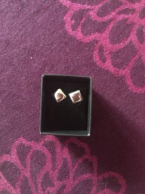Ohrringe Quadrat Silber
