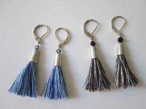 Ohrringe Quastenohrringe handmade Unikat 2 Paar