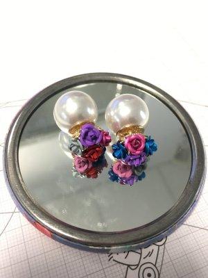 Perlen ohrringe bunt