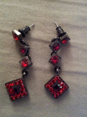 Ohrringe -rot/schwarz-