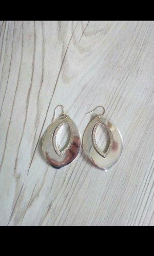 Ohrringe, silber mit Steinchen