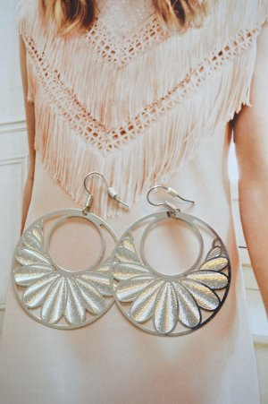 Dangle silver-colored