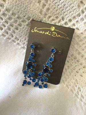 Ohrringe Statement Senso di Donna Ohrhänger Stecker blau Steine