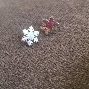 Ohrringe Stecker Schneeflocke Stern aus Edelstahl