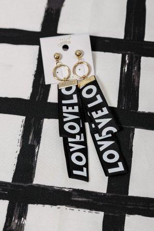Ohrringe Textil Anhänger LOVE