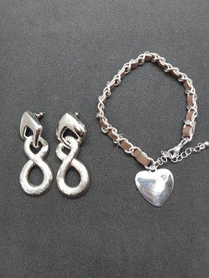 Ohrringe und Armband Silber