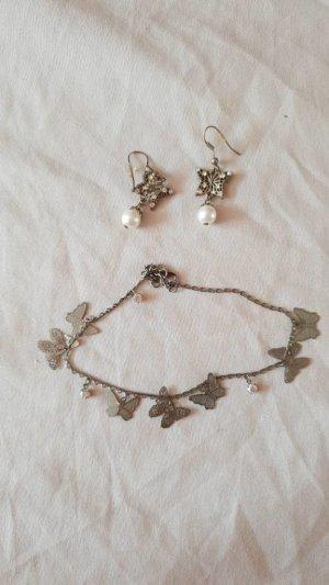Ohrringe und Fußkette Schmetterling