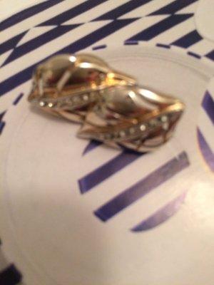 Ohrringe vergoldet mit Glitzer Steinchen