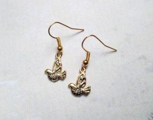 Ohrringe Vogel Gold