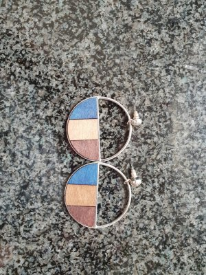 Desigual Pendant d'oreille brun-bleu fluo