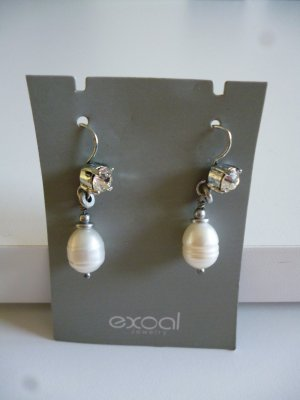 Pearl Earring silver-colored-white metal