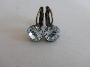 Ohrringe von Konplott, weisser funkelnder Swarovskikristall