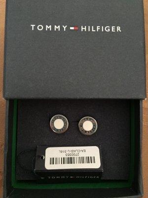 Ohrringe von Tommy Hilfiger silber/weiß