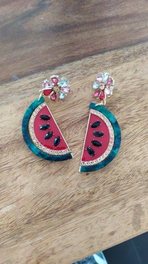 Ohrringe Wassermelone neu Modeschmuck