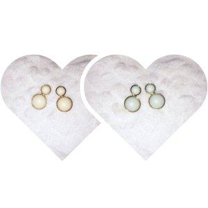 Paraorecchie celeste-bianco sporco Pelliccia ecologica
