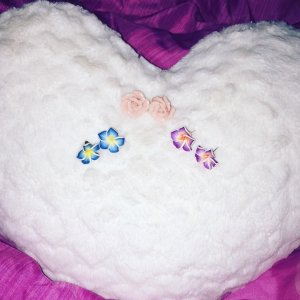 Earmuff multicolored synthetic material