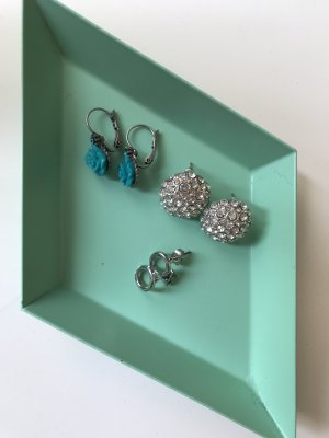 Earring light grey-cadet blue