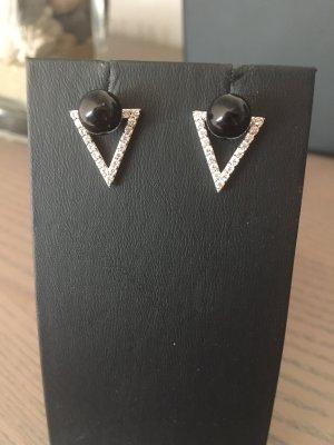 Pippa & Jean Zarcillo negro-color plata