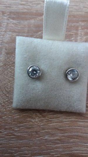 Oorstekers wit-zilver Zilver