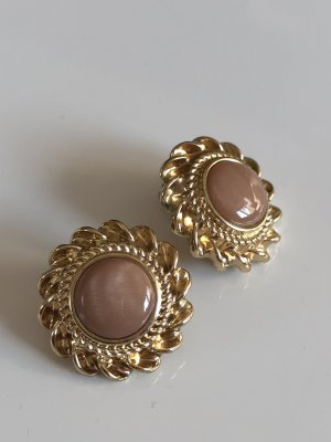 Ear stud gold-colored-brown
