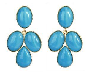 Ohrstecker aus blauen Glassteinen