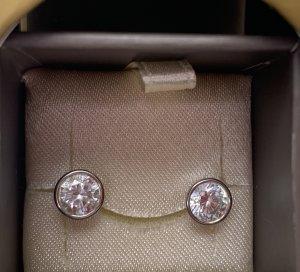 CIRO Zarcillo color plata oro verdadero