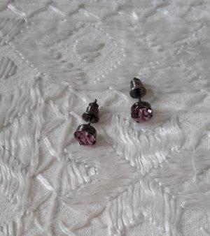 Ohrstecker, grosse Swarovski Kristalle, rosa, NEU