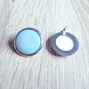 Ohrstecker hellblau-silberfarben