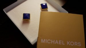 Michael Kors Ear stud gold-colored-blue