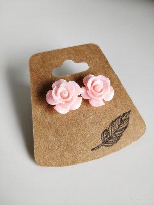 Ohrstecker Ohrringe Rosen Rosa Vintage Süß
