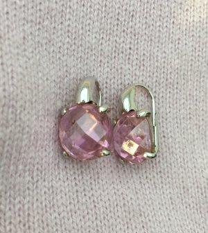 Ohrstecker Ohrringe Sterling silber mit rosa Stein