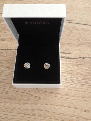 Pandora Orecchino a vite oro-argento Argento