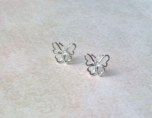 Ohrstecker Schmetterling Silberfarben